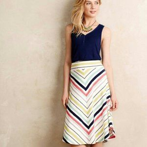 Maeve Anthropologie Multicolor Striped Skirt S